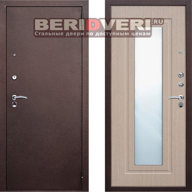 Металлическая дверь Геркон Царское зеркало Беленый дуб