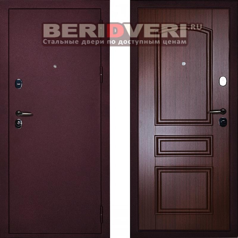 Металлическая дверь Сударь 3 брусника CISA