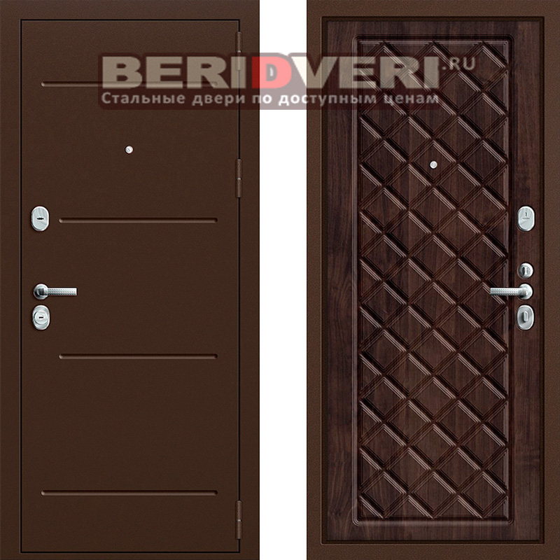Металлическая дверь Groff P2-204 Темная вишня