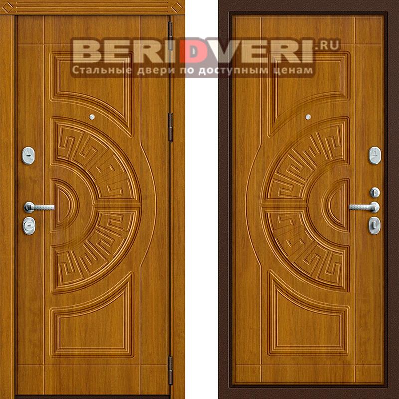Металлическая дверь Groff P3-312 Золотой дуб