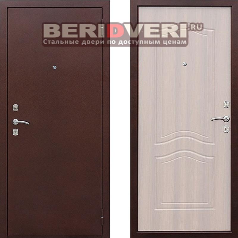 Металлическая дверь Геркон 1512 Беленый дуб