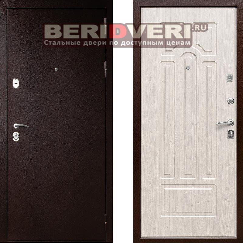 Металлическая дверь Лекс 5А Беленый дуб