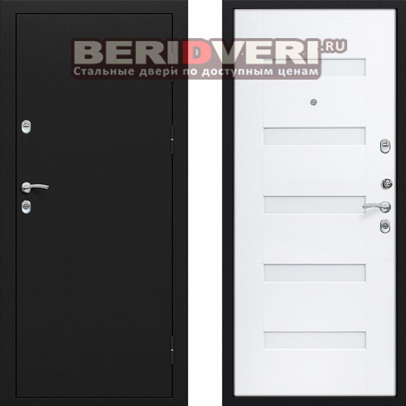 Металлическая дверь Лекс Термо Белый ясень