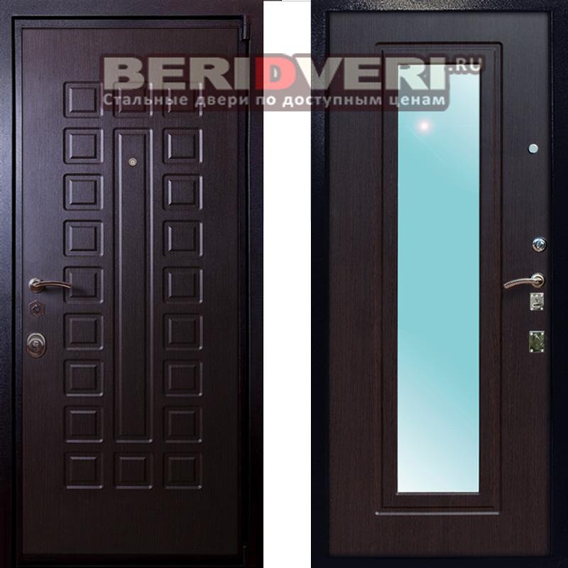 Металлическая дверь Лекс 4А Венге с зеркалом