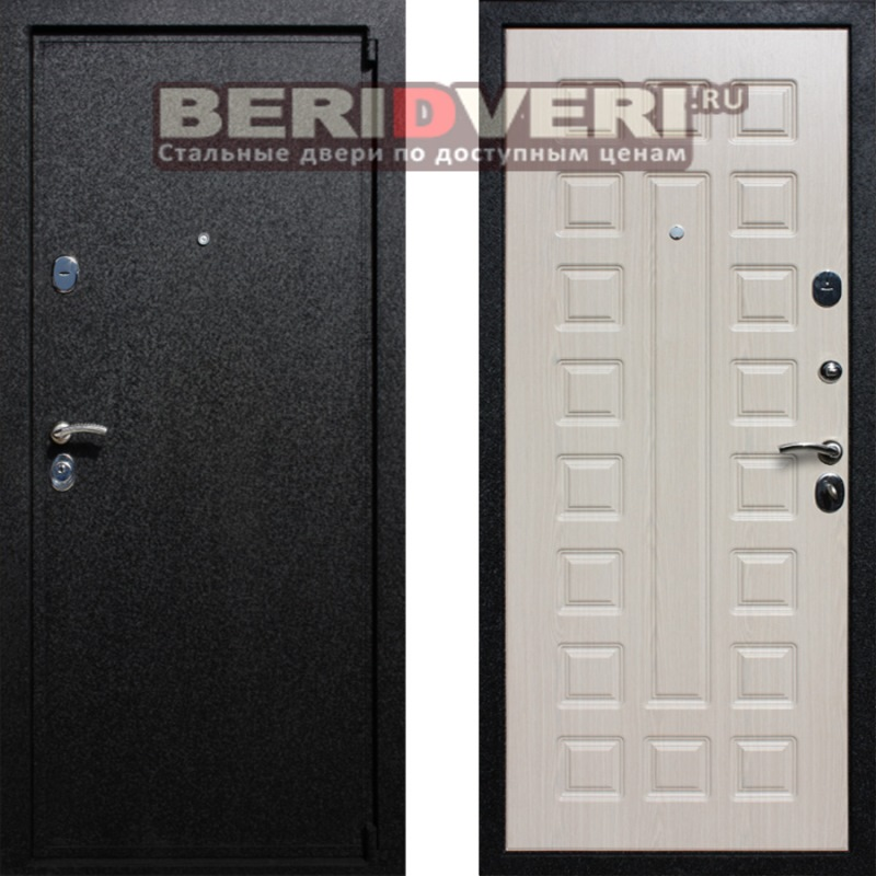 Металлическая дверь Лекс 3 Беленый дуб