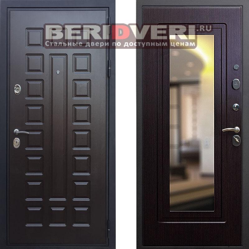 Металлическая дверь REX Триумф Зеркало Венге