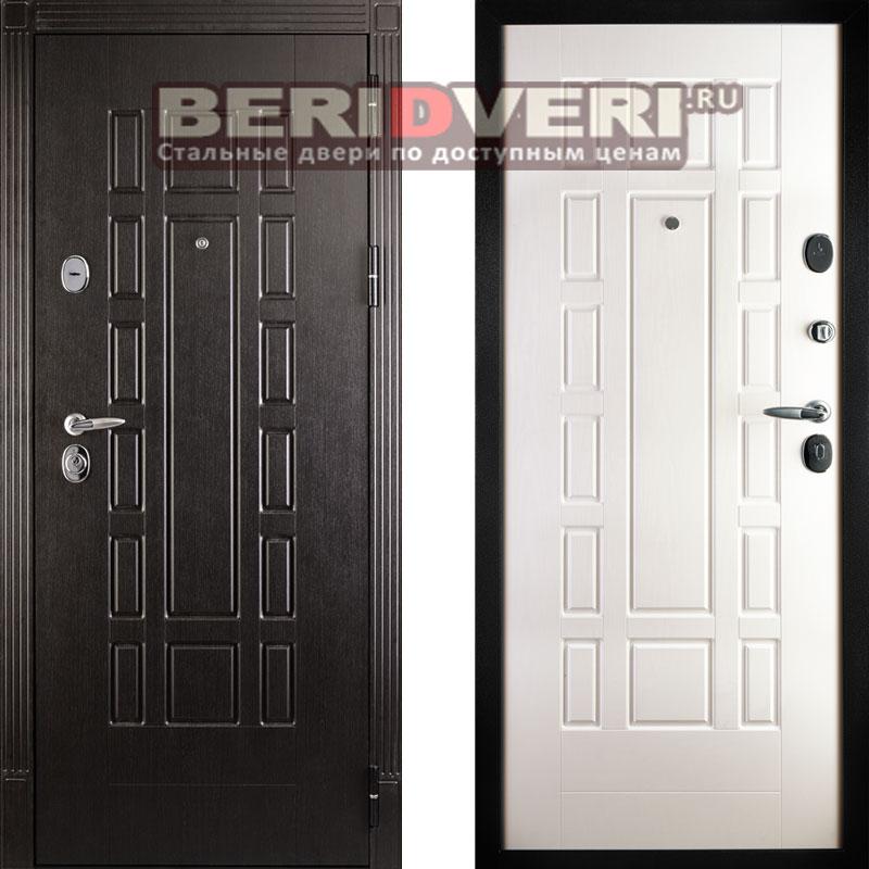 Металлическая дверь Дива МД-38 Дуб филадельфия крем