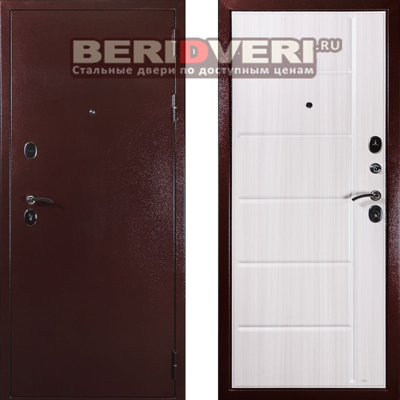 Металлическая дверь Дива С-503 Беленая лиственница