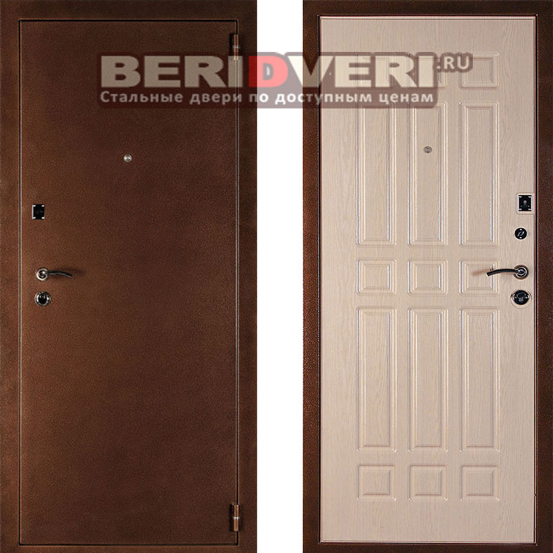 Металлическая дверь Дельта Белёный дуб