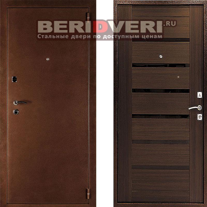 Металлическая дверь Оптима-С Венге