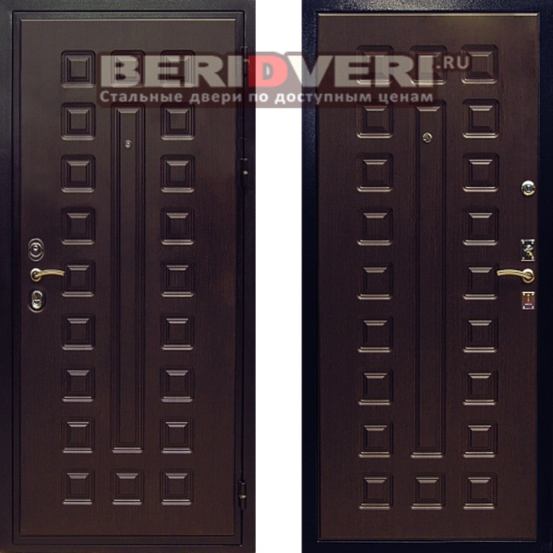 Металлическая дверь REX Гладиатор Венге
