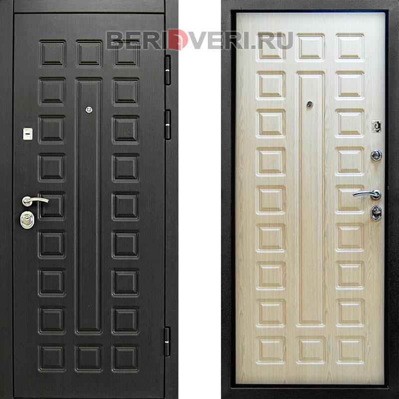 Металлическая дверь Снедо Сенатор 2К Винорит Белая лиственница