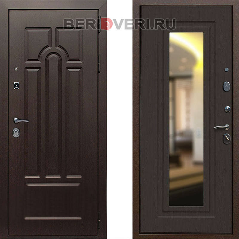 Металлическая дверь REX Эврика Зеркало Венге