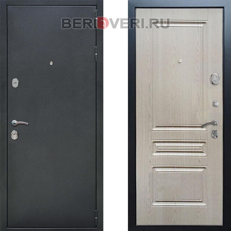 Металлическая дверь REX ФЛ-243 Беленый дуб