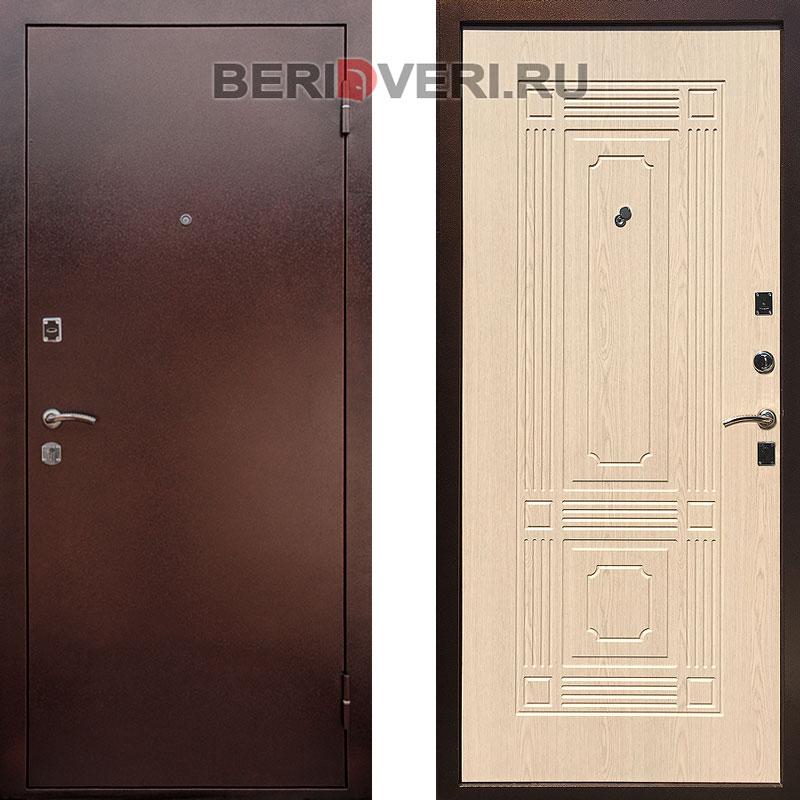 Металлическая дверь REX 1 ФЛ-2 Беленый дуб
