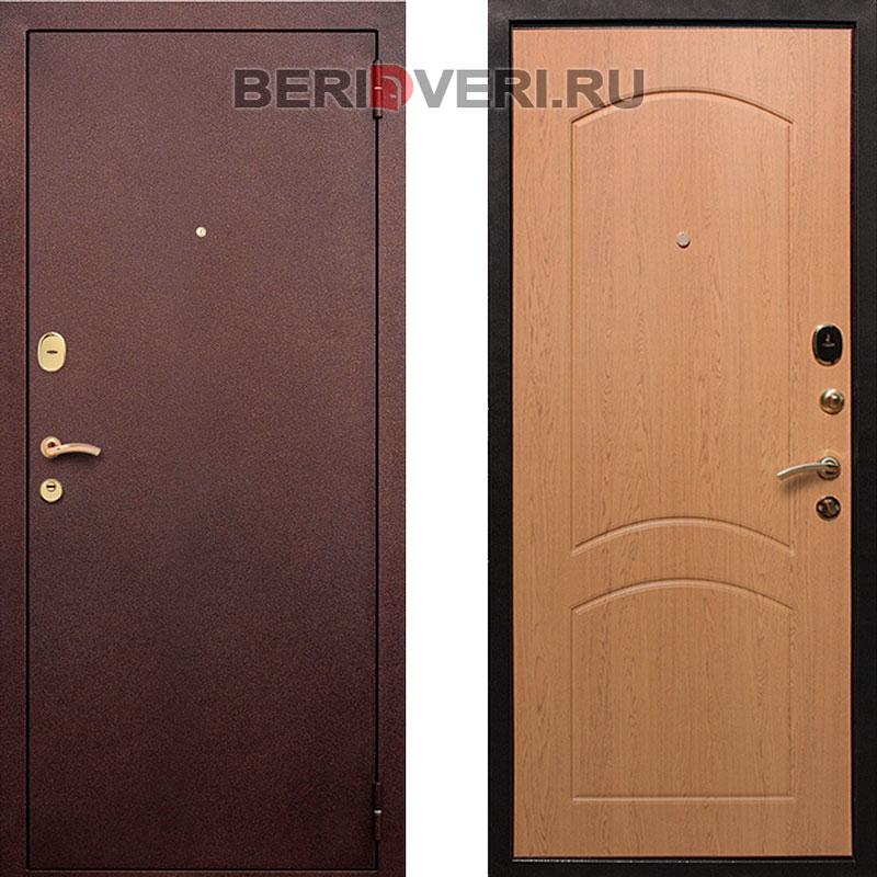 Металлическая дверь REX 1A Дуб