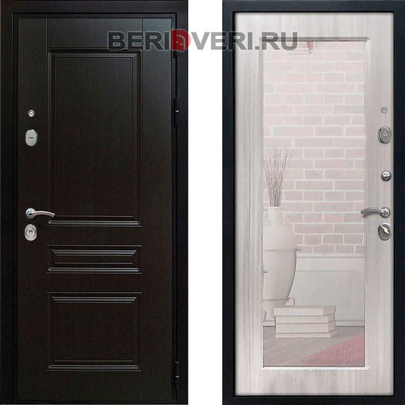 Металлическая дверь REX Премиум H Зеркало Сандал белый