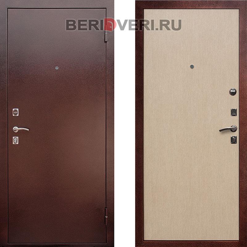 Металлическая дверь REX Эконом Белёный дуб