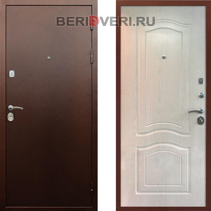 Металлическая дверь REX Лайт 3 Беленый дуб