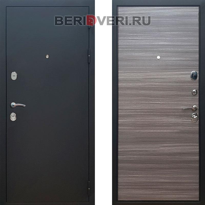 Металлическая дверь REX 5A Муар Сандал серый
