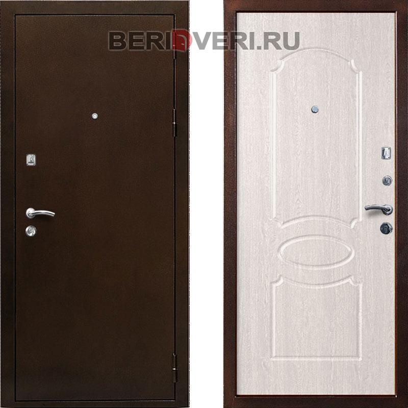 Металлическая дверь Кондор 7 Беленый дуб