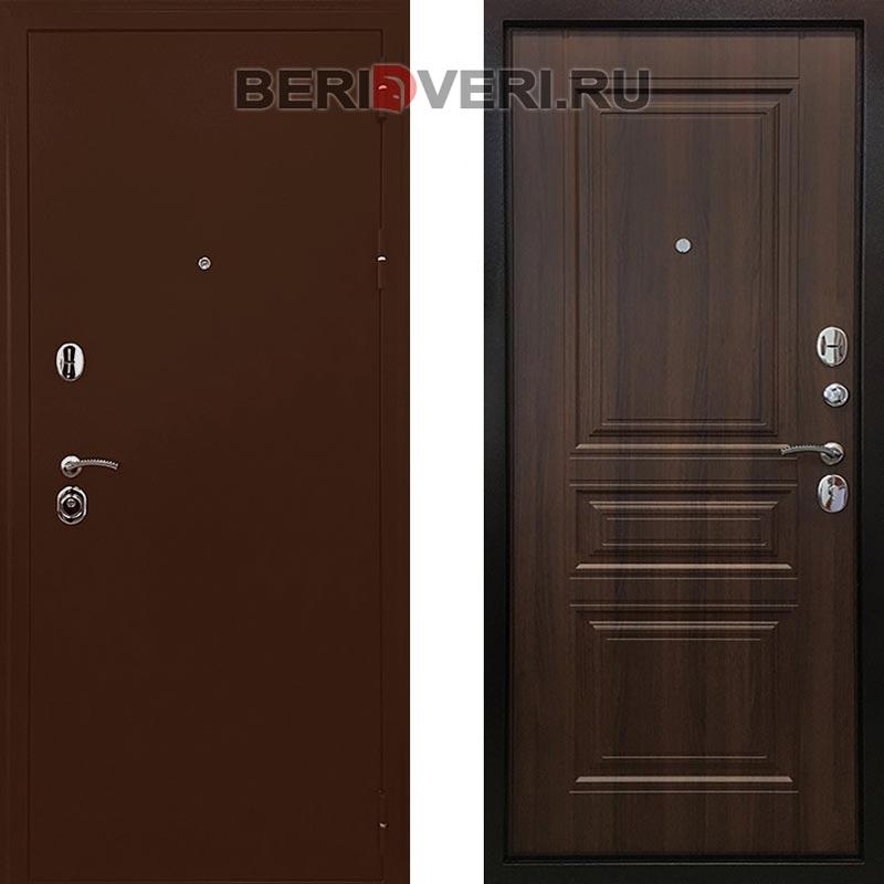 Металлическая дверь Ратибор Троя 3К Орех бренди