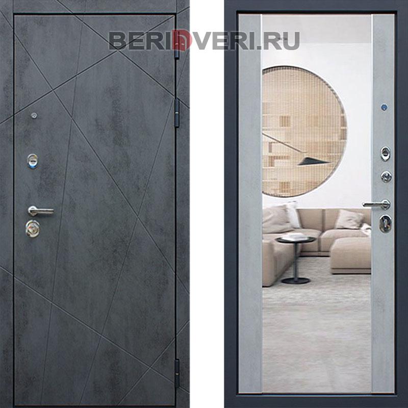 Металлическая дверь АСД Дуэт Б с зеркалом