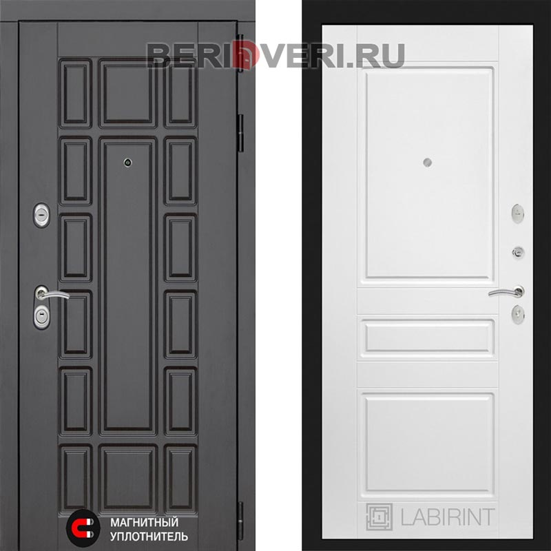 Металлическая дверь Лабиринт Нью-Йорк 03 Белый софт