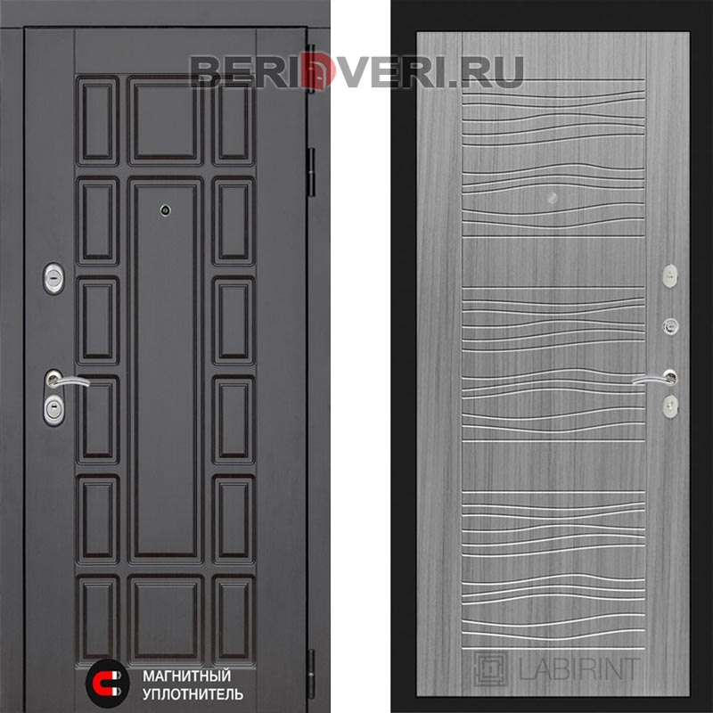 Металлическая дверь Лабиринт Нью-Йорк 06 Сандал серый