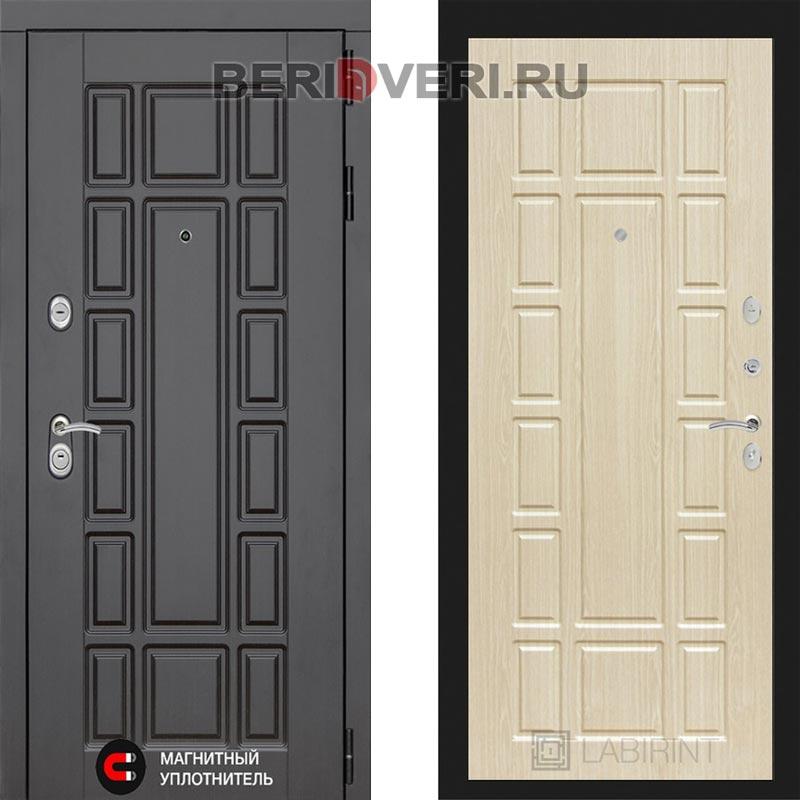 Металлическая дверь Лабиринт Нью-Йорк 12 Беленый дуб