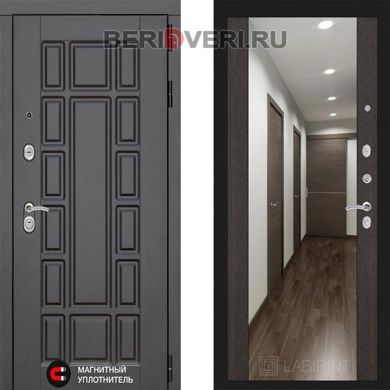 Металлическая дверь Лабиринт Нью-Йорк Зеркало Максимум Венге