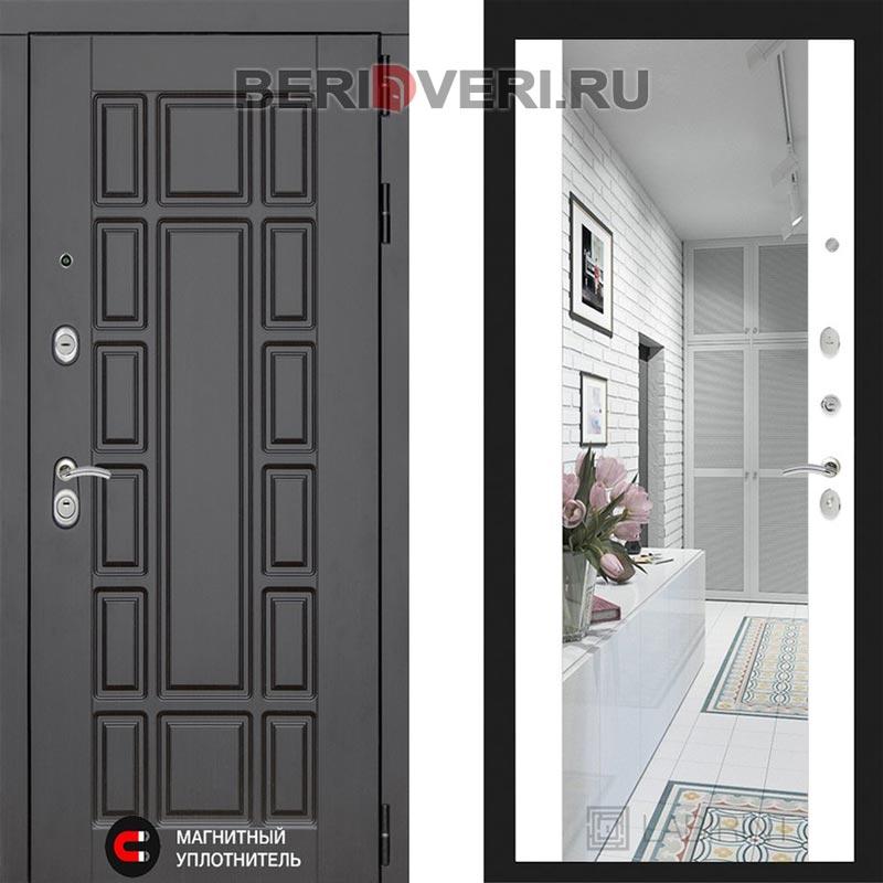 Металлическая дверь Лабиринт Нью-Йорк Зеркало Максимум Белый