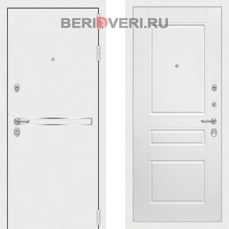 Металлическая дверь Лабиринт Лайн White 03 Белый софт