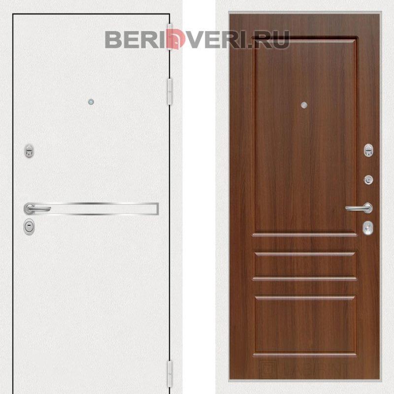 Металлическая дверь Лабиринт Лайн White 03 Орех бренди