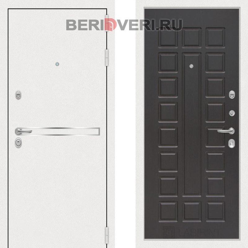 Металлическая дверь Лабиринт Лайн White 04 Венге
