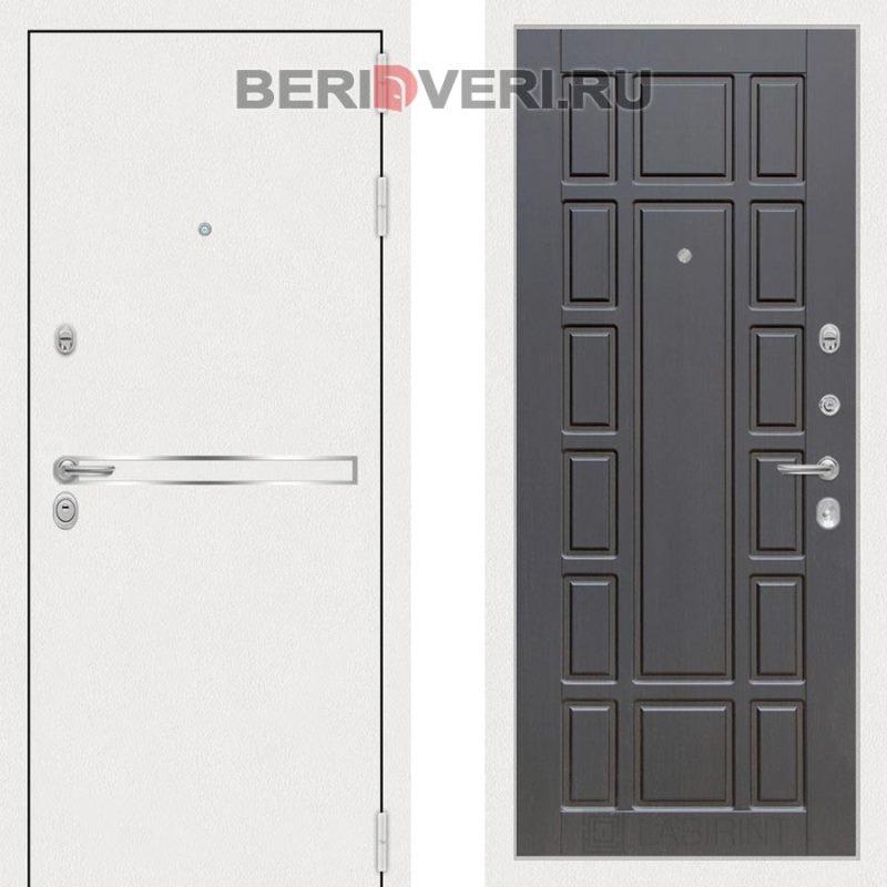 Металлическая дверь Лабиринт Лайн White 12 Венге