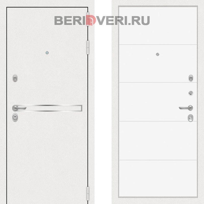 Металлическая дверь Лабиринт Лайн White 13 Белый софт