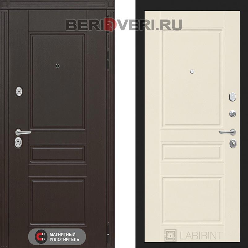 Металлическая дверь Лабиринт Мегаполис 03 Крем софт