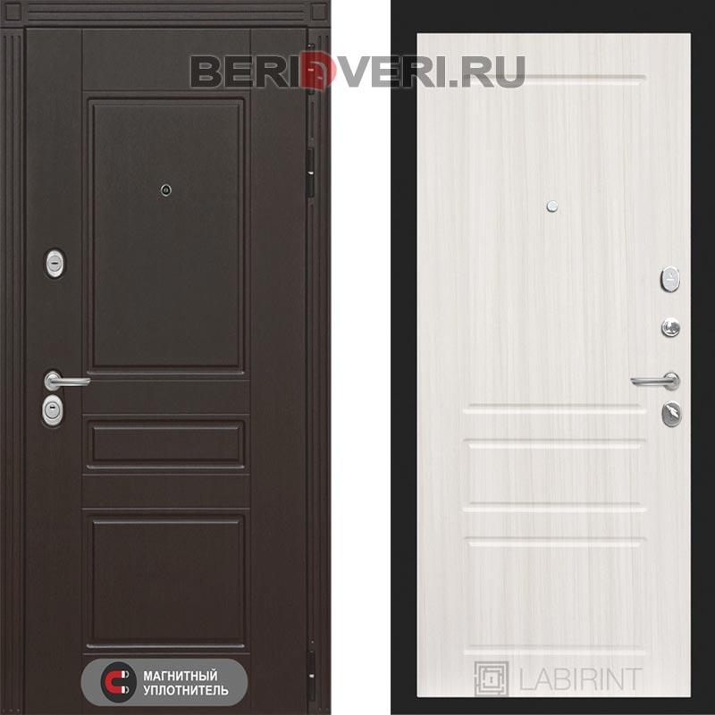 Металлическая дверь Лабиринт Мегаполис 03 Сандал белый