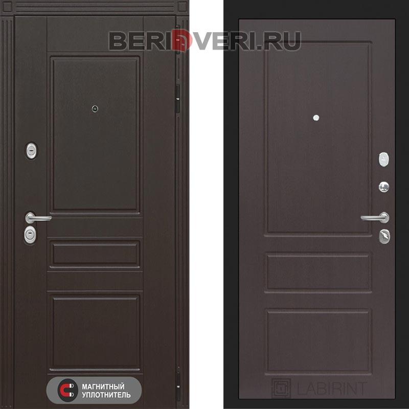 Металлическая дверь Лабиринт Мегаполис 03 Орех премиум