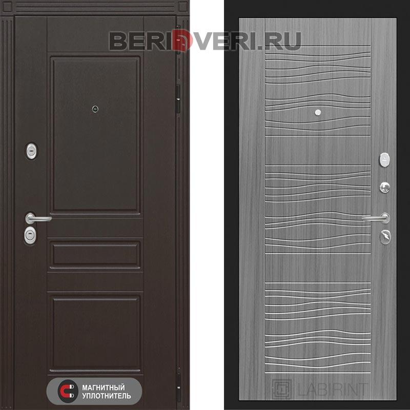Металлическая дверь Лабиринт Мегаполис 06 Сандал серый