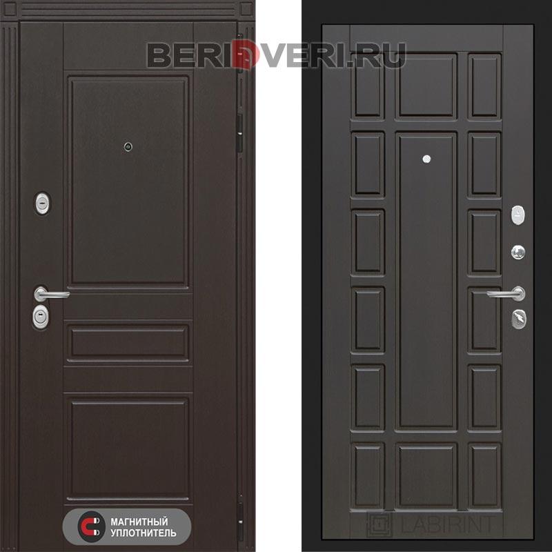 Металлическая дверь Лабиринт Мегаполис 12 Венге