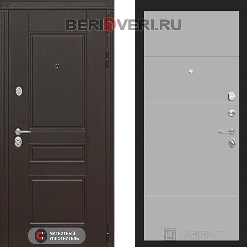 Металлическая дверь Лабиринт Мегаполис 13 Грэй софт