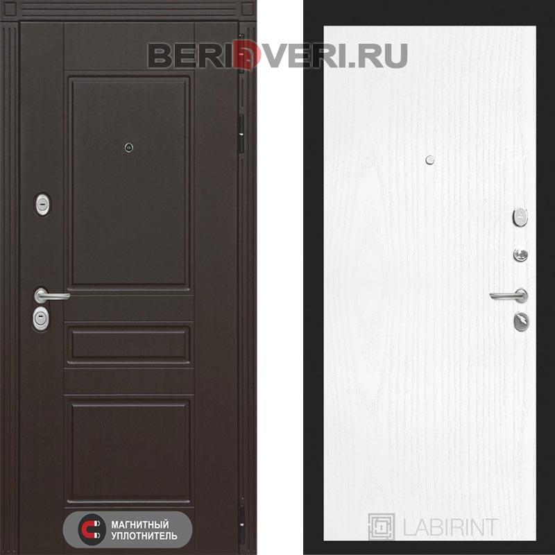 Металлическая дверь Лабиринт Мегаполис 07 Белое дерево