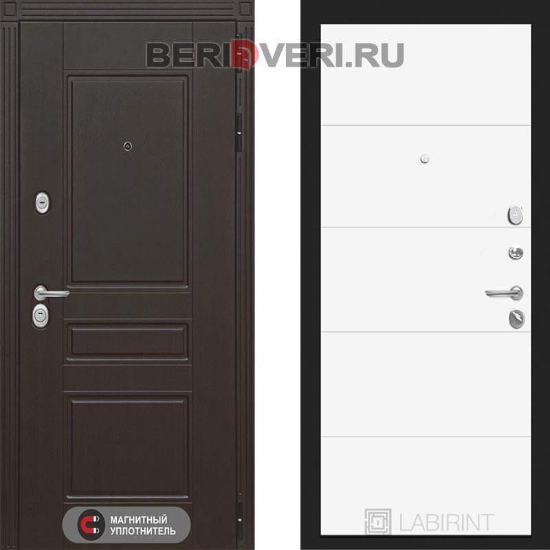 Металлическая дверь Лабиринт Мегаполис 13 Белый софт