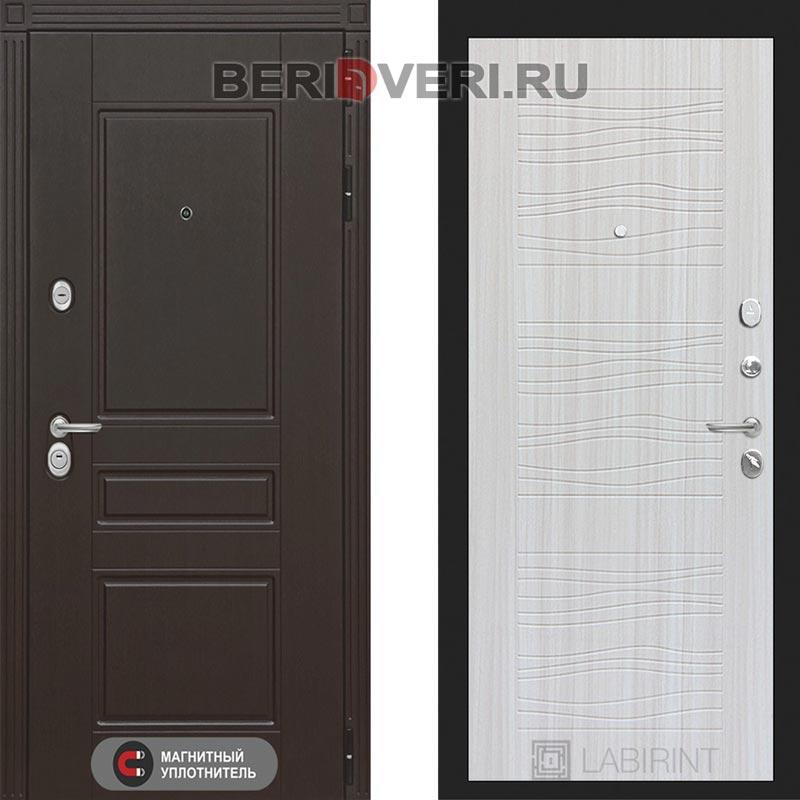 Металлическая дверь Лабиринт Мегаполис 06 Сандал белый
