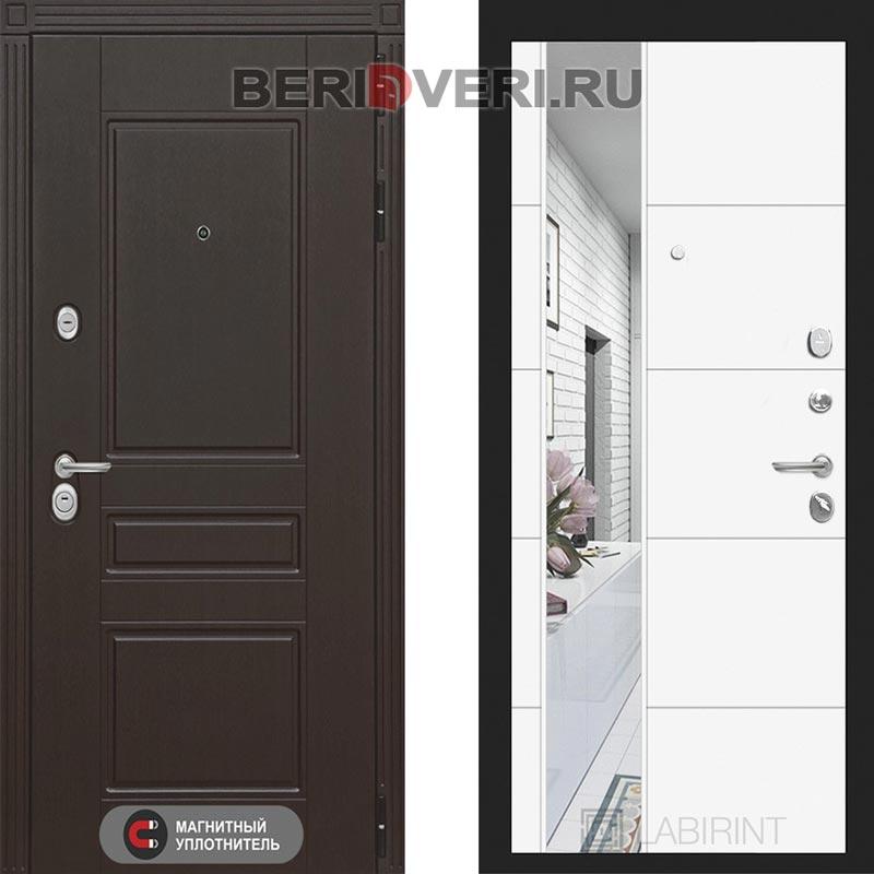 Металлическая дверь Лабиринт Мегаполис 19 Зеркало Белый