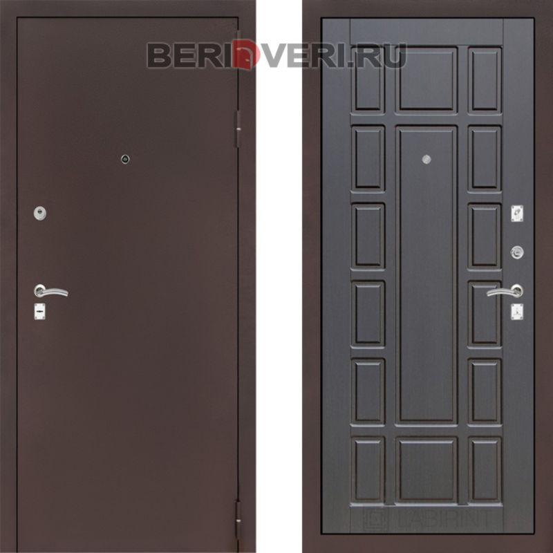 Металлическая дверь Лабиринт CLASSIC антик медный 12 Венге