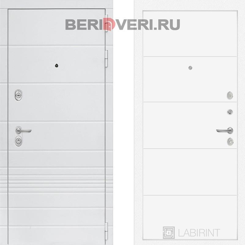 Металлическая дверь Лабиринт Трендо 13 Белый софт