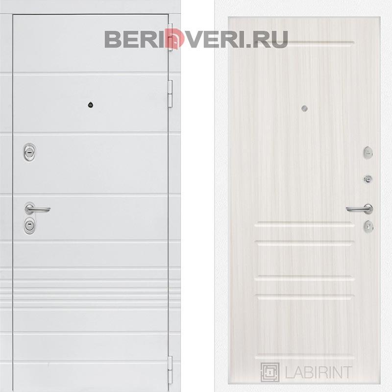 Металлическая дверь Лабиринт Трендо 03 Сандал белый